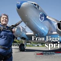 Frau Jäggi springt
